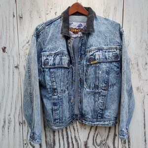 VTG Jordache No Exit Acid Wash Jacket